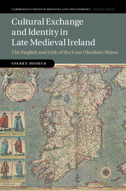 Cover of Cultural Exchange and Identity in Late Medieval Ireland: The English and Irish of the Four Obedient Shires
